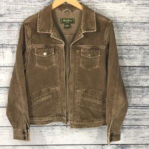 Eddie Bauer Brown Corduroy Jacket Large